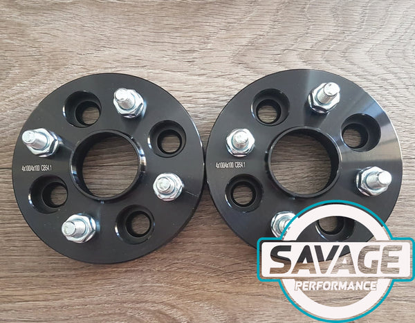 4x100 15mm Wheel Spacers suits MAZDA / TOYOTA *Savage Performance*