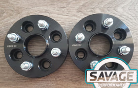 4x100 25mm Wheel Spacers suits MAZDA / TOYOTA *Savage Performance*