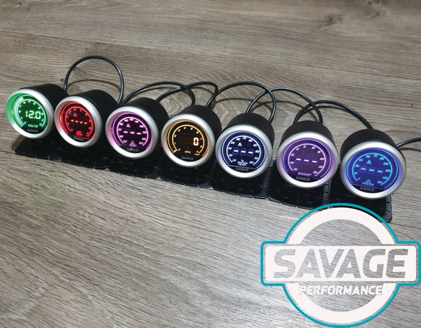 52mm Digital Savage Oil Pressure Gauge 7 Colours