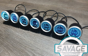 52mm Digital Savage Oil Temperature Gauge 7 Colours *Savage Performance*