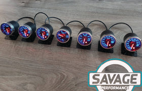 52mm Savage AFR Wideband (Air Fuel Ratio) Gauge 7 Colours