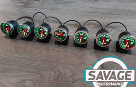52mm Savage RPM (Tacho) Gauge 7 Colours