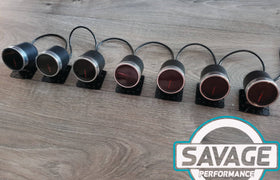 52mm Savage AFR Wideband (Air Fuel Ratio) Gauge 7 Colours *Savage Performance*