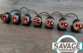 52mm Savage Water Temperature Gauge 7 Colours