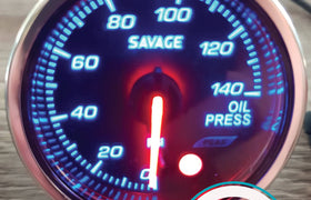 52mm Savage Oil Pressure Gauge 7 Colours