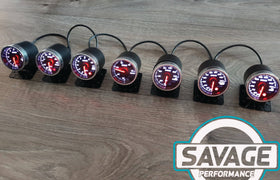 52mm Savage Water Temperature Gauge 7 Colours *Savage Performance*