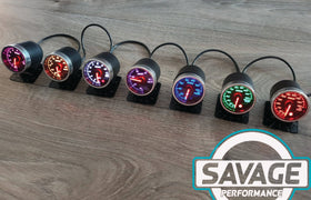 52mm Savage Boost Gauge PSI 7 Colours