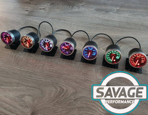 52mm Savage 60 PSI Diesel Boost Gauge PSI 7 Colours *Savage Performance*