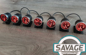 52mm Savage Volt Gauge 7 Colours *Savage Performance*