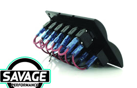 Jaylec LED Switch Rocker Panel 6 Way 6x ON/OFF Prewired
