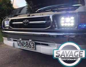 Toyota Hilux Aftermarket 7 Inch x 5 Inch LED Headlights *Savage Performance*