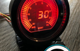 60mm DIGITAL Boost Gauge Red / Blue PSI