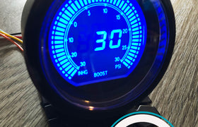 60mm DIGITAL Boost Gauge Red / Blue PSI *Savage Performance*