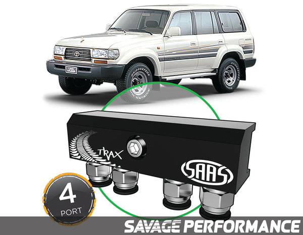 Diff Breather Kit - 4 Port suits TOYOTA LANDCRUISER 80 Series 1990-1998