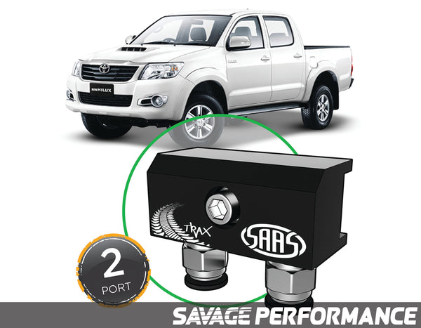 Diff Breather Kit - 2 Port suits TOYOTA HILUX 1997-2015 - All Models