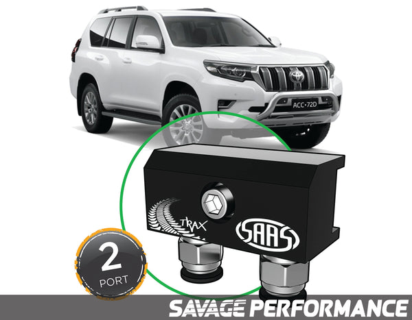 Diff Breather Kit - 2 Port suits TOYOTA PRADO 150 Series 2009- Current