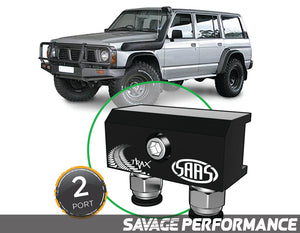 Diff Breather Kit - 2 Port suits NISSAN SAFARI / PATROL GQ Y60 1987-1997
