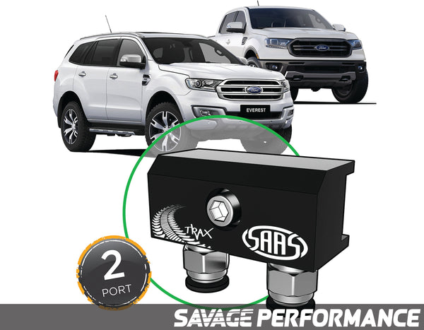 Diff Breather Kit - 2 Port suits FORD RANGER / EVEREST 2015 - Onwards