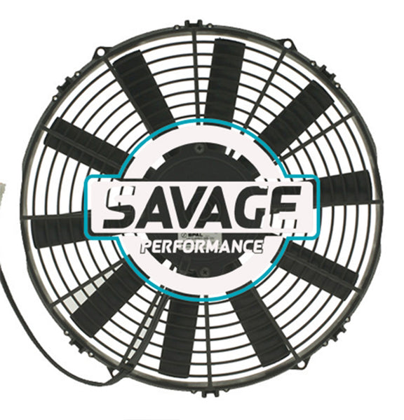 "Spal Universal 330mm 13"" 12V Pusher Straight Blade Fan 1680m3/h"