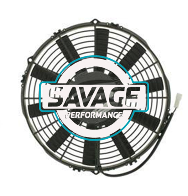 "Spal Universal 305mm 12"" 24V Pusher Straight Blade Fan 1800m3/h"