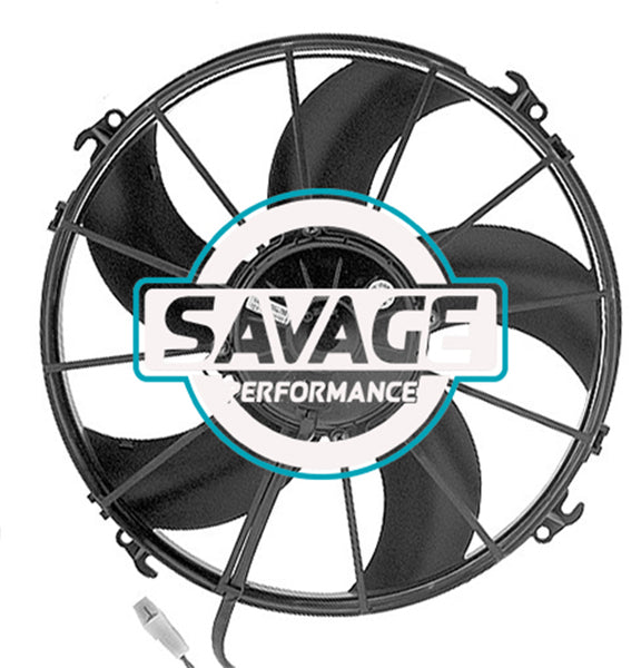 "Spal Universal 305mm 12"" 12V Pusher Skew Blade Fan 2720m3/h"