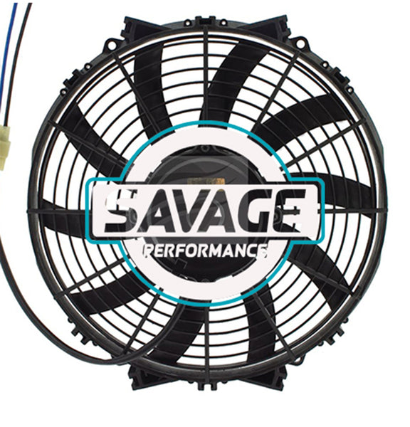 "Maradyne - Champion Series Universal 305mm 12"" 12V Reversible Skew Blade Fan 1958m3/h"