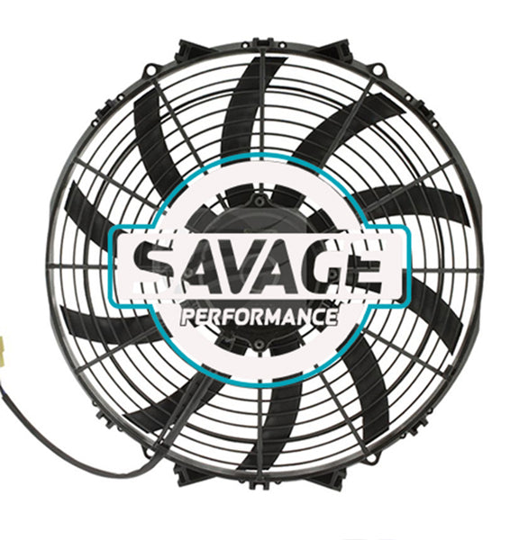 "Maradyne - Champion Series Universal 350mm 14"" 12V Reversible Skew Blade Fan 2636m3/h"