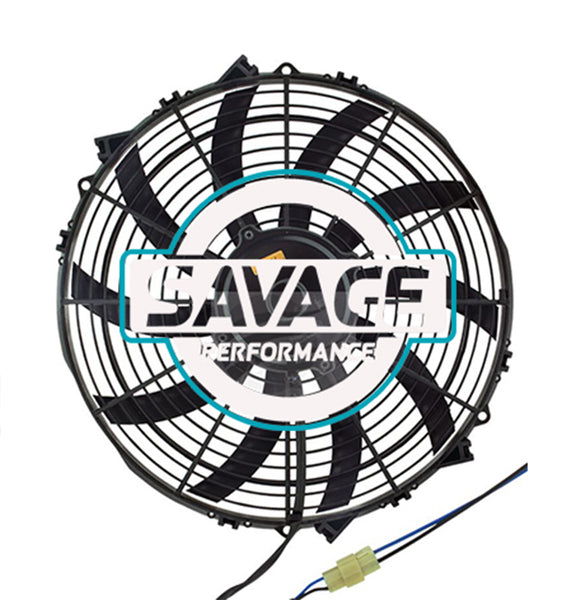 "Maradyne - Champion Series Universal 350mm 14"" 12V Reversible Skew Blade Fan 3619m3/h"