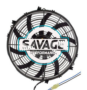 "Maradyne - Champion Series Universal 385mm 16"" 12V Reversible Skew Blade Fan 3678m3/h"
