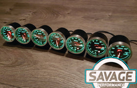 60mm Savage 45 PSI Boost Gauge PSI 7 Colours