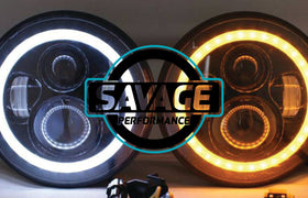 7 Inch HALO Round LED Headlights *Savage Performance*