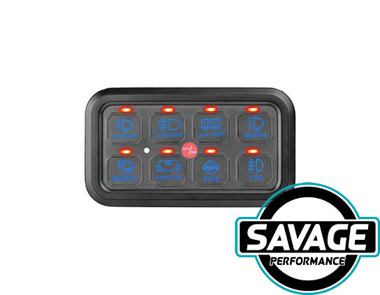 HULK 4x4 - SMART 8 Switch Panel - BLUE
