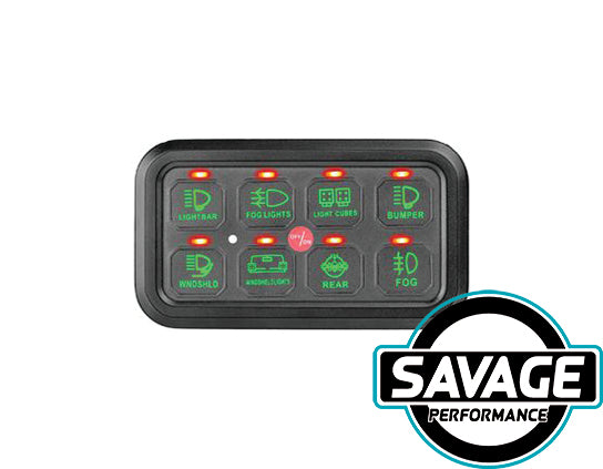 HULK 4x4 - SMART 8 Switch Panel - GREEN