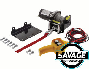 HULK 4x4 Electric ATV Steel Cable Winch 1500lbs 12V