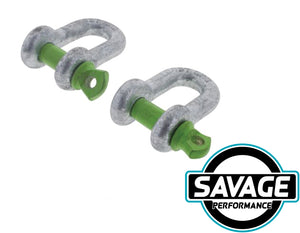 HULK 4x4 D Shackle 8mm 750kg (Pack of 2)