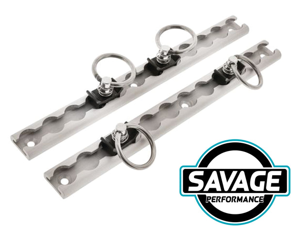 HULK 4x4 Tie Down Anchor Tracks Packet of 2 - 305mm 340kg