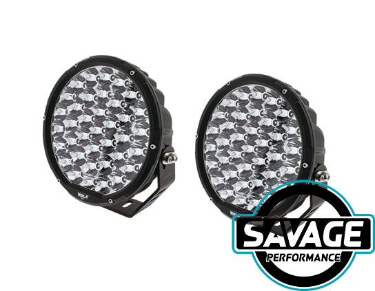Hulk 4x4 9 Inch Round LED Driving / Spot Light - Pair - BLACK