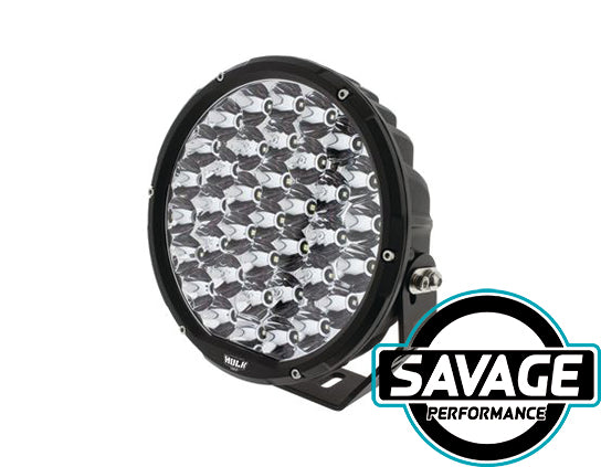 Hulk 4x4 9 Inch Round LED Driving / Spot Light - Single - BLACK