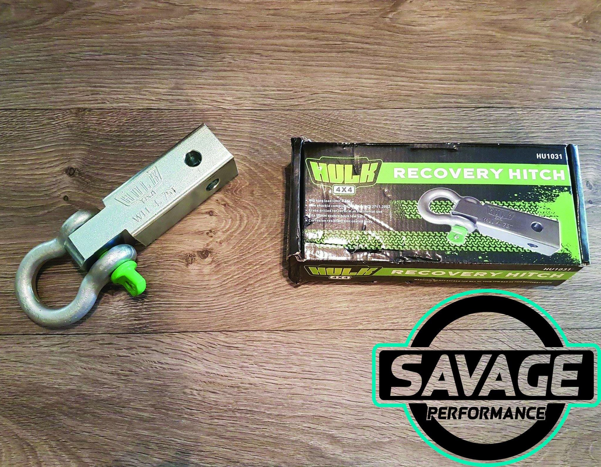 Hulk 4x4 Recovery Hitch 185mm with Bow Shackle *Savage Performance*