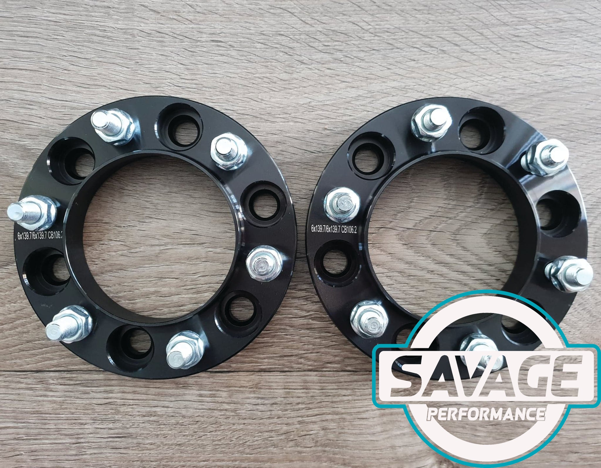 6x139.7 25mm Wheel Spacers suits TOYOTA HILUX