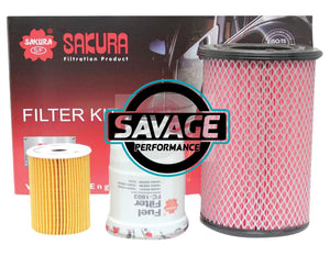 Nissan Navara D22 ZD30DDT 3.0L Turbo Filter Kit - SAKURA