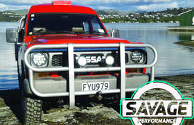 NISSAN SAFARI GQ Y60 7 Inch Round LED Headlight *Savage Performance*