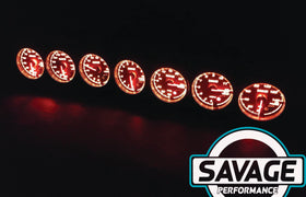 60mm Savage Oil Temperature Gauge 7 Colours *Savage Performance*