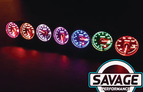 60mm Savage Water Temperature Gauge 7 Colours