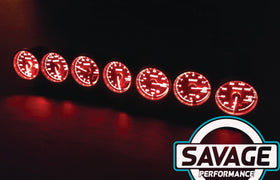 60mm Savage AFR Wideband (Air Fuel Ratio) Gauge 7 Colours *Savage Performance*