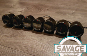 60mm Savage Boost Gauge PSI 7 Colours