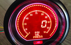 60mm DIGITAL Oil Pressure Gauge Red / Blue BAR *Savage Performance*