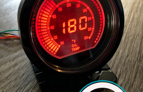 60mm DIGITAL Oil Temperature Gauge Red / Blue *Savage Performance*