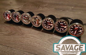 60mm Savage EGT (Exhaust Gas Temperature) Gauge 7 Colours