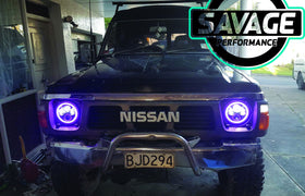 7 Inch RAINBOW HALO Round LED Headlights *Savage Performance*